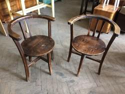 Régi vintage fenyő karfás art deco székpár szék 2 db