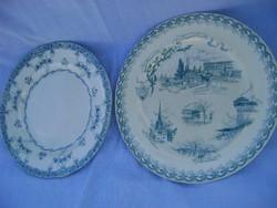 CCA 1810-1848 böl származó majolika tányérok  2 db nagyméretű külömböző király pecsétel
