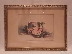 Mihálovits Lilla 1929 akvarell festmény