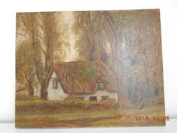 DONALD H. FLOYD 1892-1965 szignózott, jó állaptú,1920,olaj,vászon