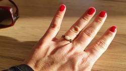 Zafír-opal antik arany gyűrű