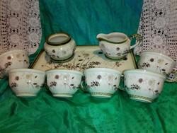 6 személyes teázó, tálcával.