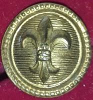 Cserkész sapka gomb koronás, bronzszinü, átmérője :16mm