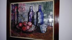 """""""KLIMÓ"""" - modern olajfestmény, üvegezett keretben"""