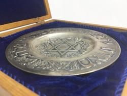 Héber feliratos ezüst tálka
