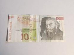 Szlovénia  SLOVENIA 10 Tolar papír pénz