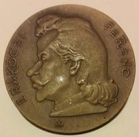 Madarassy Walter(1909-1994) 1976.II Rákóczi Ferenc 1676-1976 bronz emlékérem,mérete:42,5mm