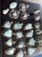Larimár drágaköves ezüst ékszerek 925 ös jelzéssel Dominikáról