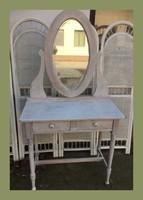 Romantikus fésülködő,pipere asztal,két fiókkal