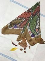 Tiszta selyem vintage kendő őszi színekben
