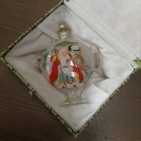 Régi kínai belülről kézzel festett parfümös díszüveg dobozában