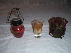 Glass - candle holder - candle holder 3 pcs - 900 ft