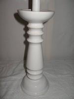 Porcelán -  hatalmas - hófehér 28 x 11 cm - gyertyatartó - hibátlan