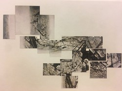Köves Éva (1965): Párizsi árnyékok, 1997  -  15 darabos installáció