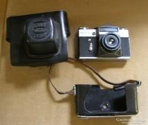 ZENIT-E fényképezőgép bőr tokjában