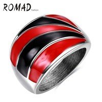 Piros-fekete gyűrű 7-es  ÚJ!