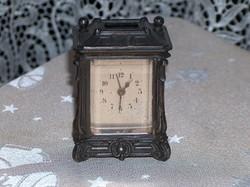 Óra, utazó óra, szecessziós, ébresztő