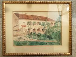Boemm Klára - Szentelek 1912 - akvarell