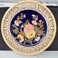 Zsolnay antik családjeles  áttört nagy méretű tányér 1880 körül