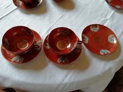 Japán tojáshéj vékony porcelán teás csésze + csészealj