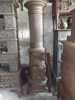 1890 ből Öntöttvas oszlop Friedland - Kalán vaskályha henger koksz kályha