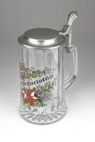 0U111 Ónfedeles üveg korsó söröskorsó 18.5 cm