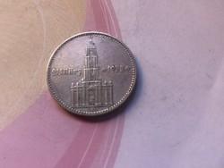 """1934""""feliratos"""" ezüst III. birodalom 2 márka Ritka"""