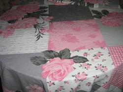 Vintage csodaszép rózsás patchwork mintás ágynemű garnitúra
