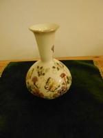 Zsolnay pillangós elefántcsont színű váza
