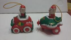 Retro  karácsonyfa díszek mikulások