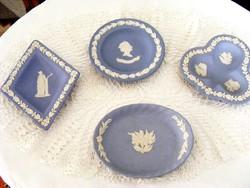 4 darab Wedgwood, hibátlan, porcelán, jelenetes tálka, akár ajándékba is, Erzsébet királynő képével