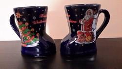 Wan Well karácsonyi csizma bögre