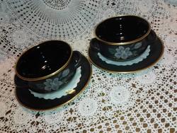 Új leveses csésze alátét tányérral, 24.kar.arannyal díszített.