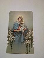 Antik  Mária kegykép imakönyvbe 1934