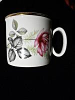 Zsolnay retró rózsás csésze 25.