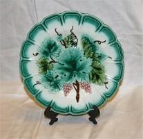 Antik Sarreguemines fajansz tányér