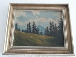 Kitzbühel hegyről osztrák olaj festmény