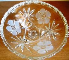 Gyönyörű kristály kínáló, asztalközép
