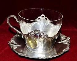 Szecessziós WMF jelzéssel teás csésze