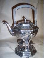 Antik monogramos USA ,ezüstözött teafőző