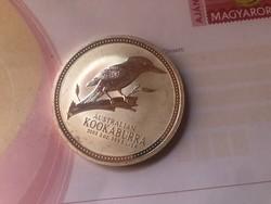 2003 Ausztrália 2 oz. kukaburra 62,2 gramm 0,999 gyönyörű érme