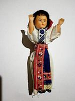 Babaházi fiú gumi baba a hetvenes évekből