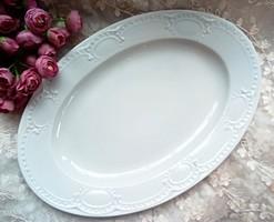 MZ Austria hatalmas fehér porcelán gyöngyös tál