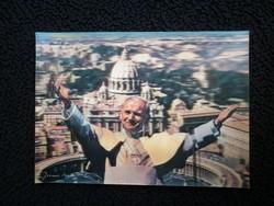 Térbeli hologramos képeslap, II. János Pál pápa
