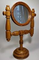 Asztali fa piperetükör, asztali tükör
