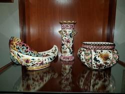Zsolnay perzsa mintás  kaspó + váza + kínáló kollekció