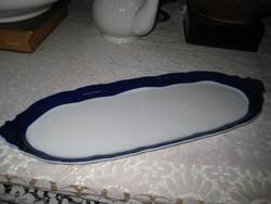 Zsolnay tálca kék fehér  17 x 45 cm
