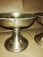 Antik ezüst kehely párban ,19.sz elejebol