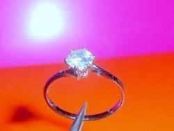 Mest. Gyémánt köves töltött Fehérarany GF . gyűrű 8-as