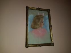 Csodálatos antik portré blondel keretben